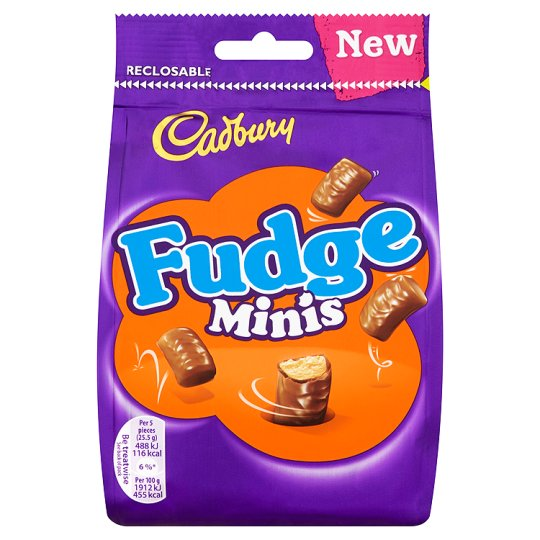 Cadbury Fudge Bites Minis Chocolate Bag 120G