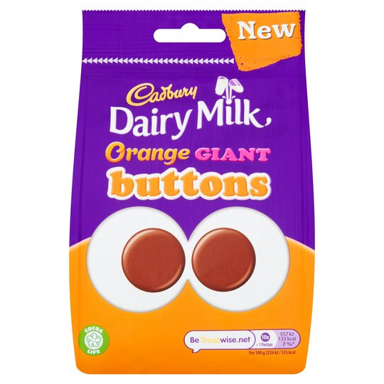 Cadbury Button Pouch ORANGE 110g