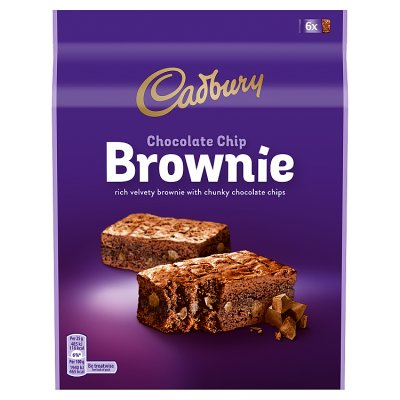 Cadbury Chocolate Chip Brownies 6 x 25g