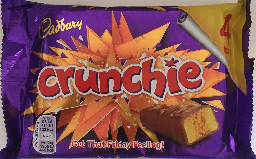 Cadbury Crunchie Bar (4 x 26g) 4 pack
