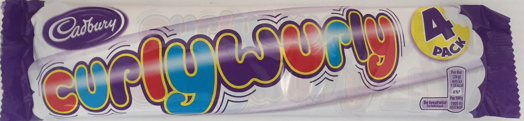 Cadbury Curly Wurly 4 Pack