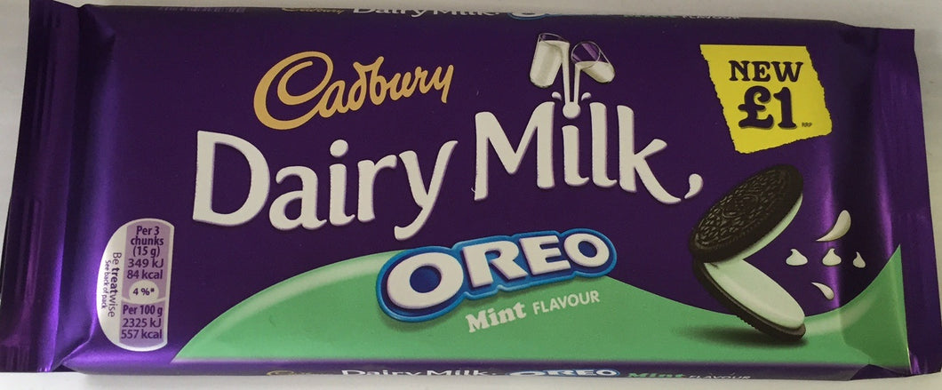Cadbury Dairy Milk Oreo Mint Bar 120g