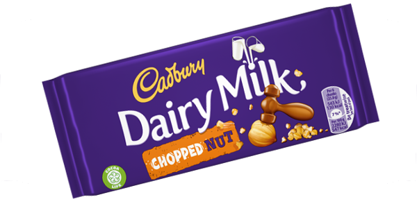 Cadbury Dairy Milk Chopped Nut Bar 95g