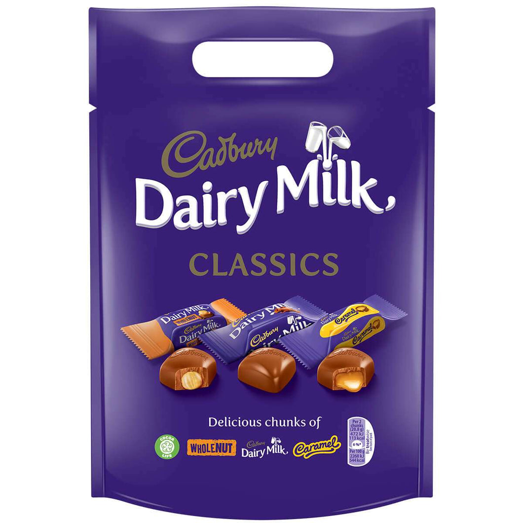 Cadbury Dairy Milk Mixed Classics Pouch 380g - CHRISTMAS