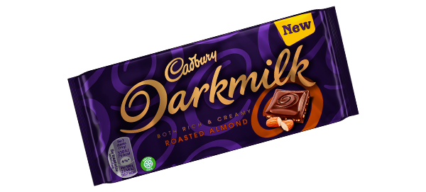 Cadbury Darkmilk Bar Roasted Almond 85g