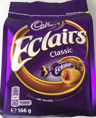 Cadbury Chocolate Eclairs Bag 166g