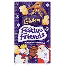 Cadbury Festive Friends Biscuits 150g Christmas