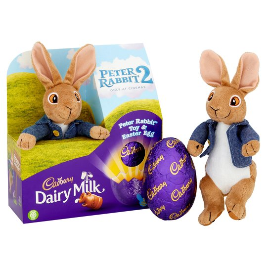 Cadbury Peter Rabbit Plush Easter Egg - FRAGILE