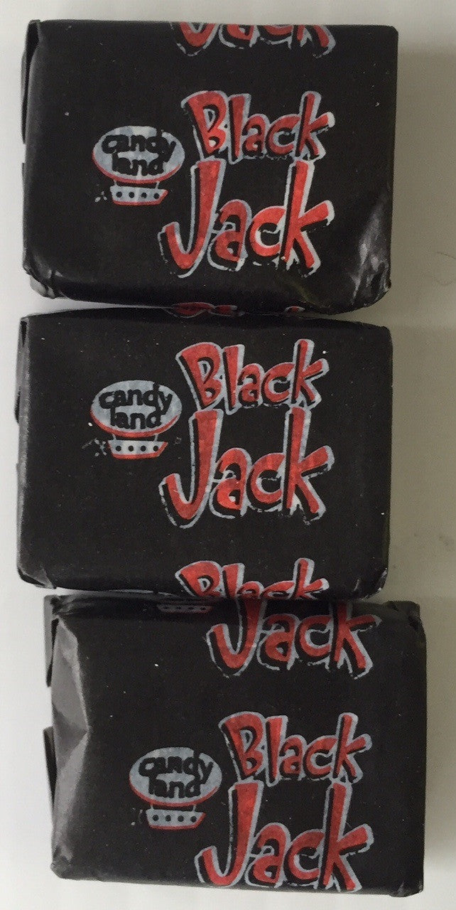 JG Barratts Black Jack Chews Bulk Sweets Wrapped 100g