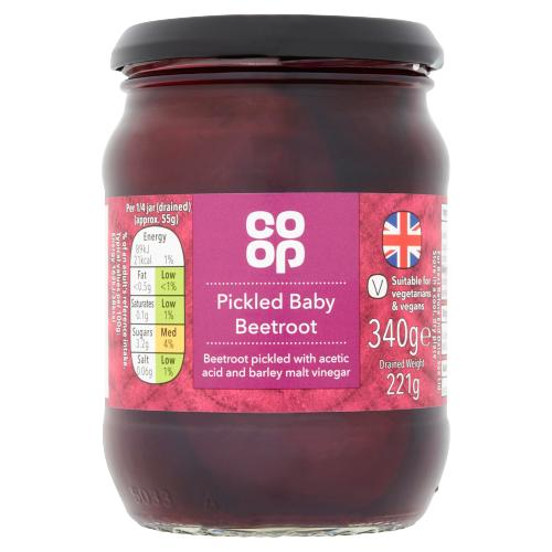 Co-op Pickled Baby Beetroot 340g