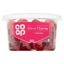 Co Op Glace Cherries 200g - Christmas