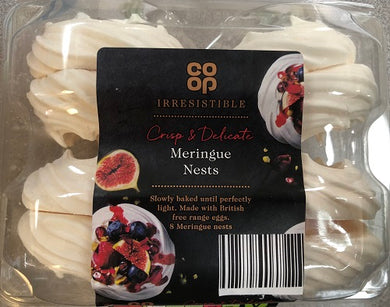 Co op Meringue Nests 8 count- FRAGILE