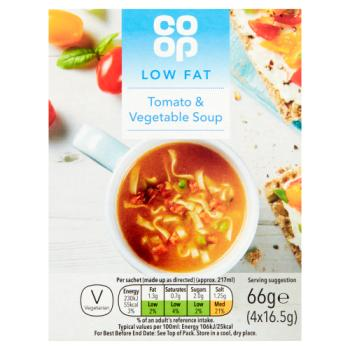 Co op Good Life Cup a Soup Tomato & Vegetable 4 x 16.5g