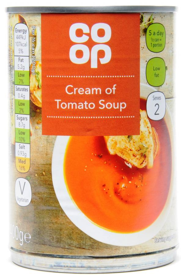 Co op Cream of Tomato Soup Can 400g