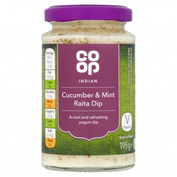 Co-op Cucumber & Mint Raita Dip 195g