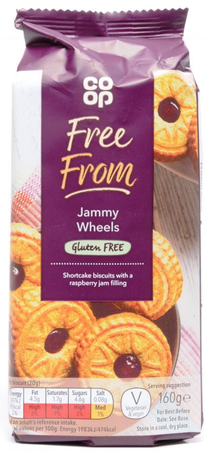 Co op Free From Jammy Wheels Biscuits 160g