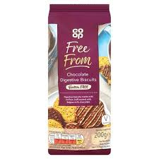 Co op Free From Milk Chocolate Digestive Biscuit 200g