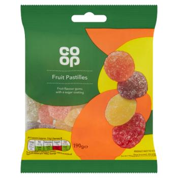Co op Fruit Pastilles Bag 190g