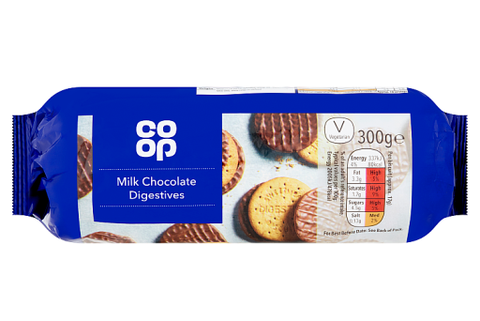 Co-op Milk Chocolate Digestive Biscuit 300g