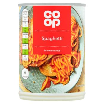 Co op Spaghetti Can 385g