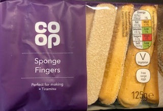 Co Op Sponge Fingers 125g  FRAGILE