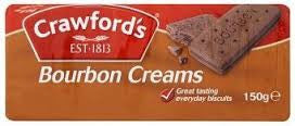 Crawfords Bourbon Biscuit 150g