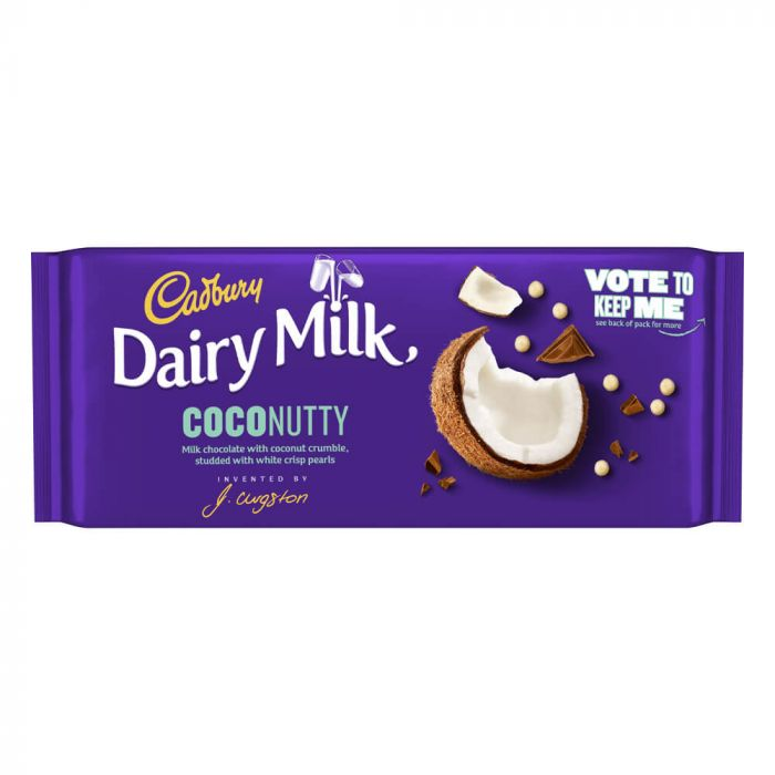 Cadbury Dairy Milk Inventor Coconutty Bar 105g