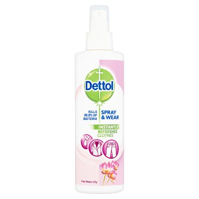 Dettol Spray & Wear Pink Water Lily Cloth 250ml
