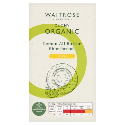 Duchy Organic Sicilian Lemon All Butter Shortbread 150g