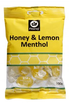 Fitzroy Honey & Lemon Menthol 100g Bag