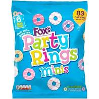 Fox's Mini Party Rings Bag 120g