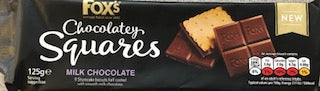 Fox's Chocolatey Squares Milk Chocolate Biscuits 125g (4.4oz)