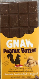 Gnaw Peanut Butter Milk Chocolate Bar 100g