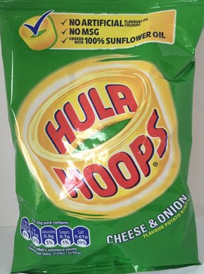 KP Hula Hoops Crisps Cheese and onion 34g  x 6 packs