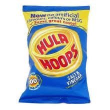 KP Hula Hoops Crisps Salt and Vinegar 43g x  6pk