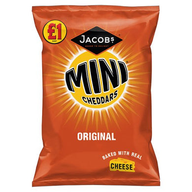 Jacobs Mini Cheddars Original 105g Bag (3.7oz)
