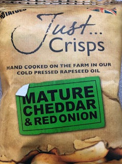Just Crisps Mature Cheddar & Red Onion - potato chips 40g