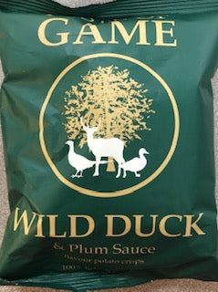 Just Crisps Taste of Game Wild Duck & Plum Sauce flavour 40g VEGAN