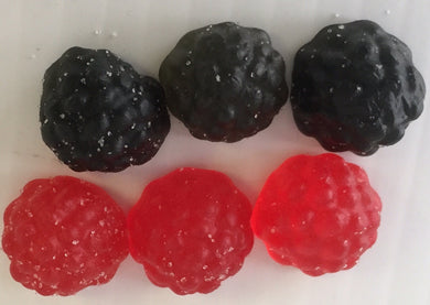 JG Blackcurrant &  Raspberry Gums Bulk Sweets 100g