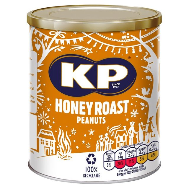 KP Honey  Roasted Peanuts Caddie 375g - Christmas