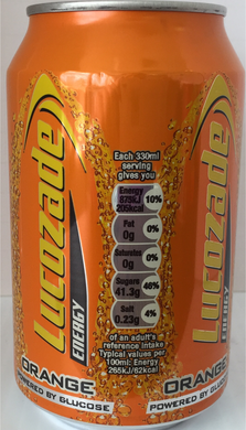 Lucozade Orange Can