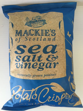 Mackie's Sea Salt & Vinegar Crisps 150g