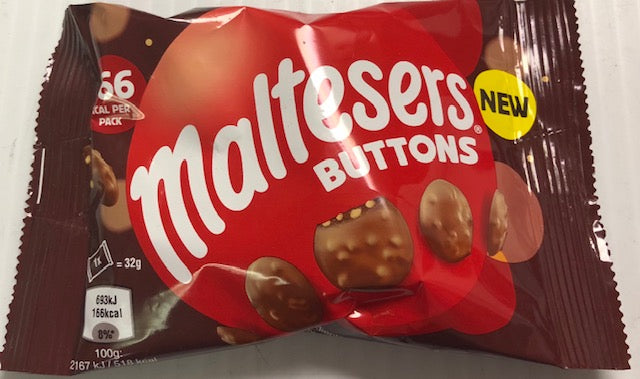 Maltesers Buttons Bag 32g NEW