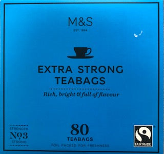 M & S Extra Strong Teabags 80ct