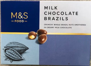 M & S Milk Chocolate Brazils 150g - Christmas