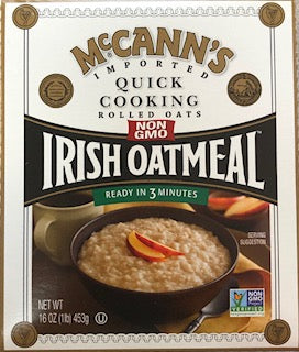 McCann's Quick Rolled Oats Irish Oatmeal 16oz Box