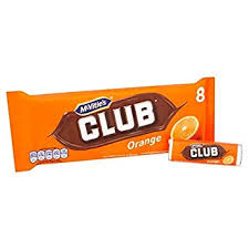 Mcvities Club Orange Biscuit 8's