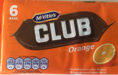 Mcvities Club Orange Biscuits 6 Pack
