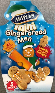 Mcvities Mini Gingerbread Men Kit 5 pack - Christmas