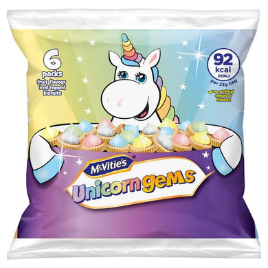 McVities Iced Gems Unicorns 6 x 23g